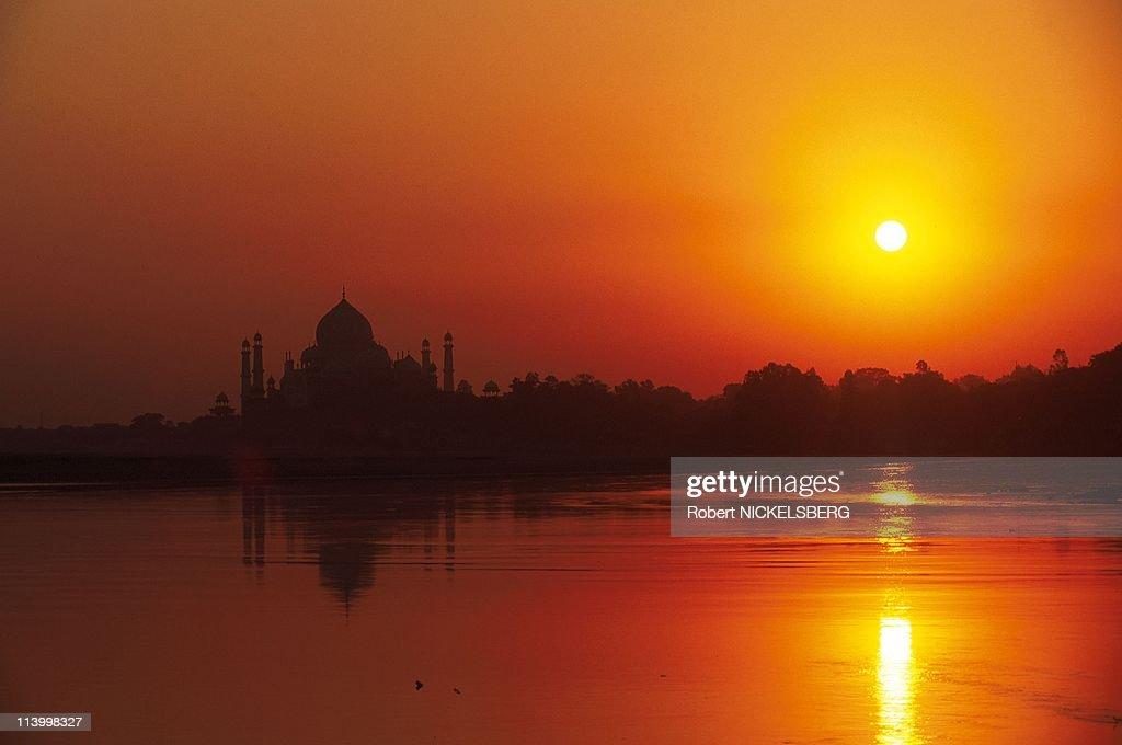 Taj Mahal In Agra, India In June, 1998- : News Photo