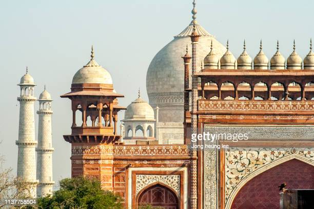 taj mahal in agra, india - jong heung lee stock pictures, royalty-free photos & images