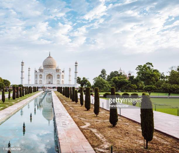 taj mahal in agra - taj mahal stock pictures, royalty-free photos & images
