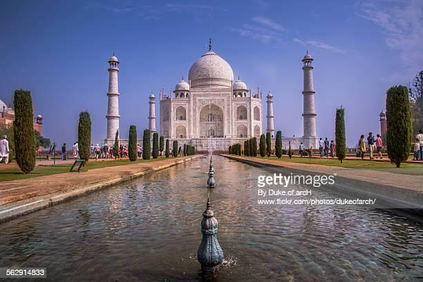 taj mahal : love memorial : agra : india - mughal empire stock photos and pictures