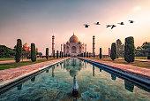 Taj Mahal mausoleum in Agra