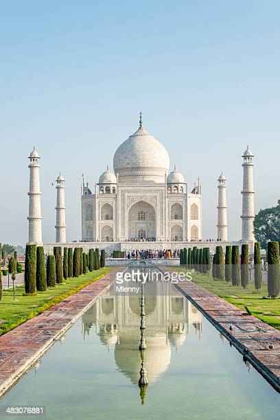 taj mahal monument agra, india - taj mahal stock photos and pictures