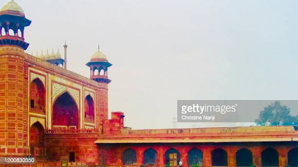 taj mahal mosque - agra jama masjid mosque stock pictures, royalty-free photos & images
