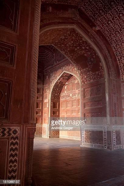 taj mahal mosque. - interior of taj mahal stock pictures, royalty-free photos & images