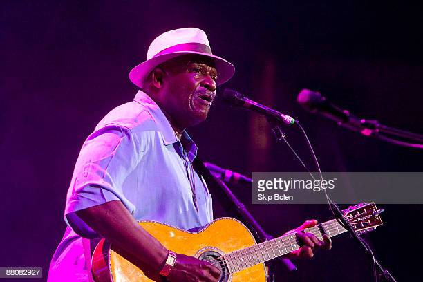 Taj Mahal performs during the Domino Effect benefit concert at the New Orleans Arena on May 30 2009 in New Orleans Louisiana