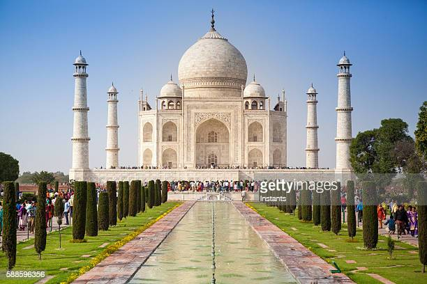 taj mahal - taj mahal stock photos and pictures