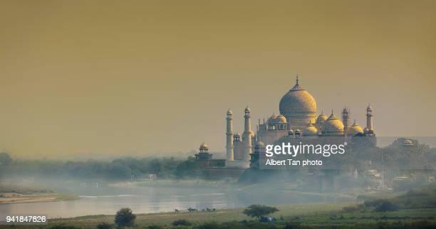 taj mahal - yamuna river stock pictures, royalty-free photos & images