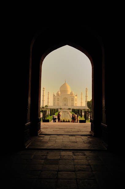 Taj Mahal  seen at a another angle, in  Agra, India