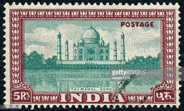 taj mahal stamp - postage stamp stock pictures, royalty-free photos & images