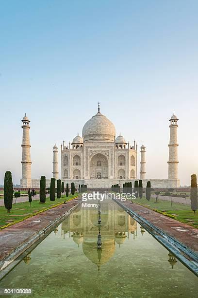Taj Mahal lever du soleil, Agra, Inde