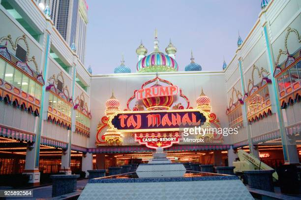 Taj Mahal the casino owned by Donald Trump in Atlantic City USA The casino opened on April 2nd 1990 The Trump Taj Mahal casino emerged from...