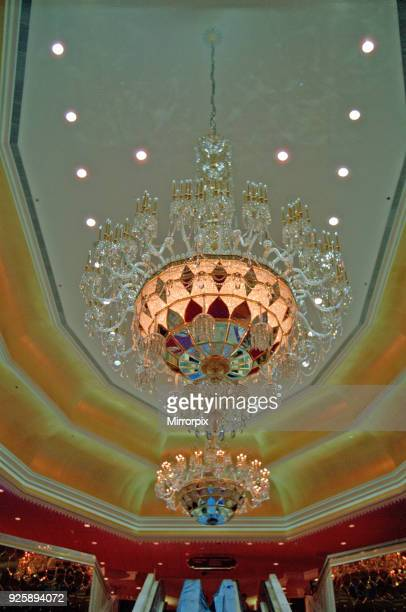 Taj Mahal the casino owned by Donald Trump in Atlantic City USA The casino opened on April 2nd 1990 Picture shows a Chandelier The Trump Taj Mahal...