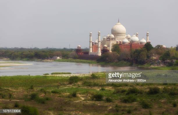 Taj Mahal view from the distance, Agra, India