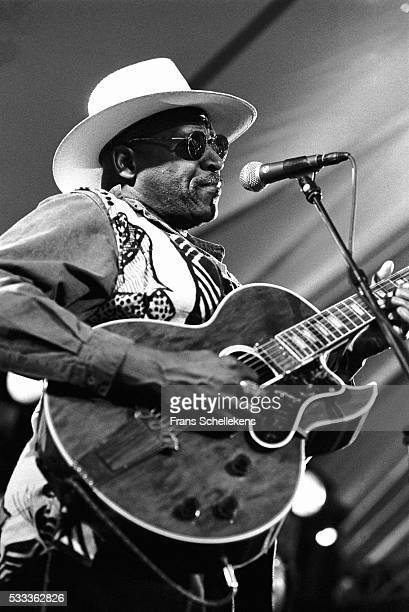 Taj Mahal, vocals and guitar, performs on July 13th 1997 at the North Sea Jazz Festival in the Hague, the Netherlands.