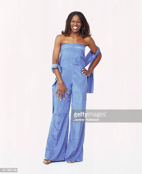 Taj McWilliams Franklin of the Connecticut Sun poses for a WNBA Portrait at Westin Hotel on August 4 2004 in New York New York NOTE TO USER User...