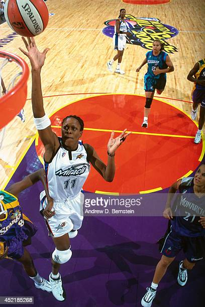 Taj McWilliams of the Eastern Conference AllStars shoots during the 2000 WNBA AllStar Game on July 17 2000 at America West Arena in Phoenix Arizona...