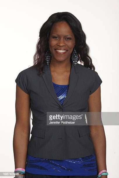 Taj McWilliamsFranklin assistant coach of the New York Liberty poses for a photo during WNBA Media Day on May 13 2013 at the Madison Square Garden...