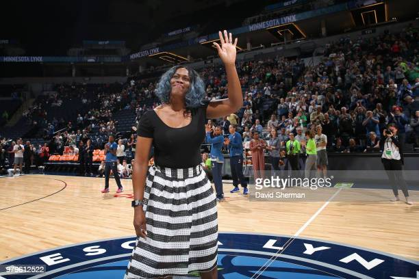Taj McWilliamsFranklin attends the game between the Dallas Wings and Minnesota Lynx on June 19 2018 at Target Center in Minneapolis Minnesota NOTE TO...