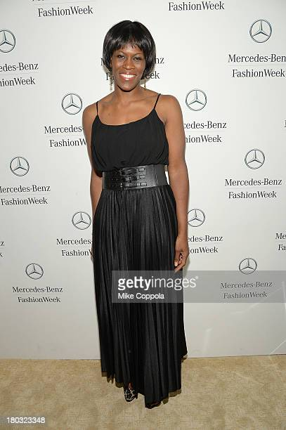 Taj McWilliamsFranklin attends the MercedesBenz Star Lounge during MercedesBenz Fashion Week Spring 2014 on September 11 2013 in New York City