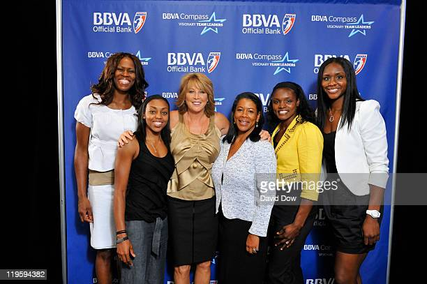 Taj McWilliamsFranklin Renee Montgomery Nancy Liberman WNBA President Laurel Richie Marie Ferdinand and Essence Carson poses for a photo during the...