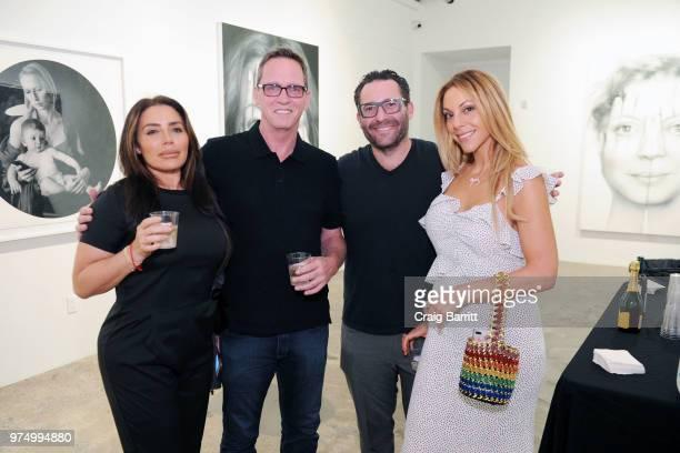 Taja Cone and Morgan Shara attend the Tigran Tsitoghdzyan 'Uncanny' show at Allouche Gallery on June 14 2018 in New York City
