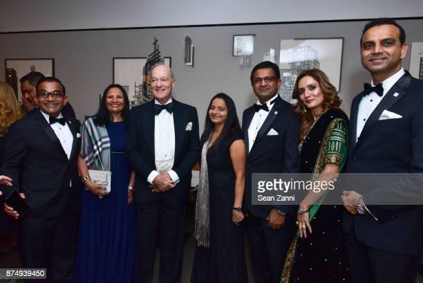 Tajddin Momin Zarina Momin Prince Amyn Aga Khan Roshin Momin Lehjatali Momin Shireen Davwa and Asif Davwa attend The Aga Khan Foundation Gala at The...