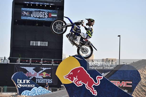 Taka Higashino of Japan rides during the Red Bull XFighters World Tour 2015 on October 30 2015 in Abu Dhabi United Arab Emirates