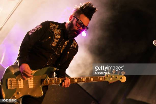Taka Hirose of Feeder performs at the Olympia Theatre on March 21 2018 in Dublin Ireland
