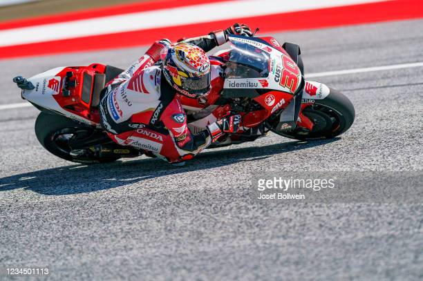 Takaaki Nakagami of Japan and LCR Honda during the MotoGP of Styria - Free Practice at Red Bull Ring on August 6, 2021 in Spielberg, Austria.
