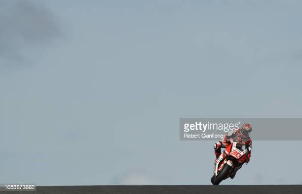 Takaaki Nakagami of Japan and LCR Honda Idemitsu during free practice for the 2018 MotoGP of Australia at Phillip Island Grand Prix Circuit on...