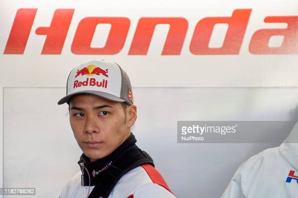Takaaki Nakagami of Japan and LCR Honda Idemitsu during the qualifying of Gran Premio Motul de la Comunitat Valenciana at Ricardo Tormo Circuit on...