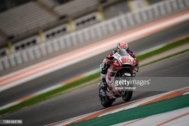Takaaki Nakagami of Japan and LCR Honda IDEMITSU rides during the free practice for the MotoGP of Comunitat Valenciana at Comunitat Valenciana...