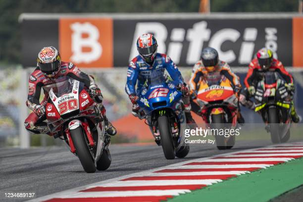 Takaaki Nakagami of Japan and LCR Honda warms up during the MotoGP of Austria - Race at Red Bull Ring on August 15, 2021 in Spielberg, Austria.