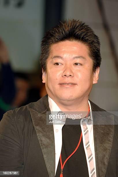Takafumi Horie Livedoor CEO during Memoirs of a Geisha Tokyo Premiere at Ryogoku Kokugikan Hall in Tokyo Japan