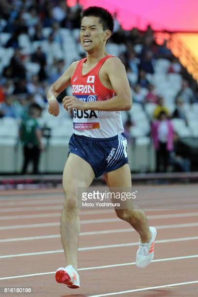 Takafumi Igusa of Japan competes in the Men's 800m T38 round 1 during the IPC World ParaAthletics Championships 2017 at London Stadium on July 14...