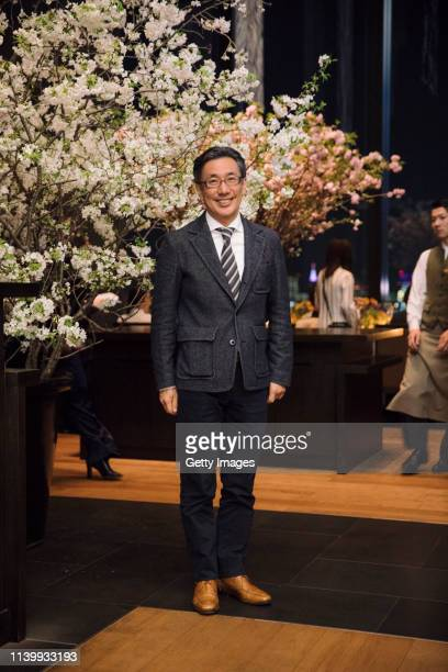 Takafumi Minaguchi attends the Tory Burch Ginza Boutique Opening After Party on April 02 2019 in Tokyo Japan
