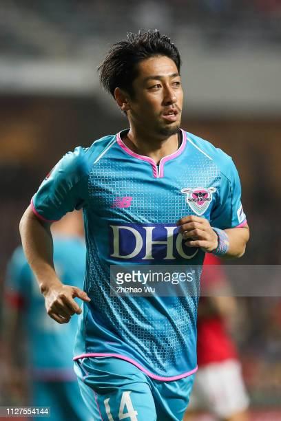 Takahashi Yoshiki of Sagan Tosu in action during Tonghai Financial Chinese New Year Cup 2019 between HK CNY Selection Team and Sagan Tosu at Hong...