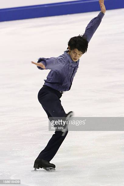 Takahiko Kozuka competes in the Men's Short Program during day one of the 81st Japan Figure Skating Championships at Makomanai Sekisui Heim Ice Arena...