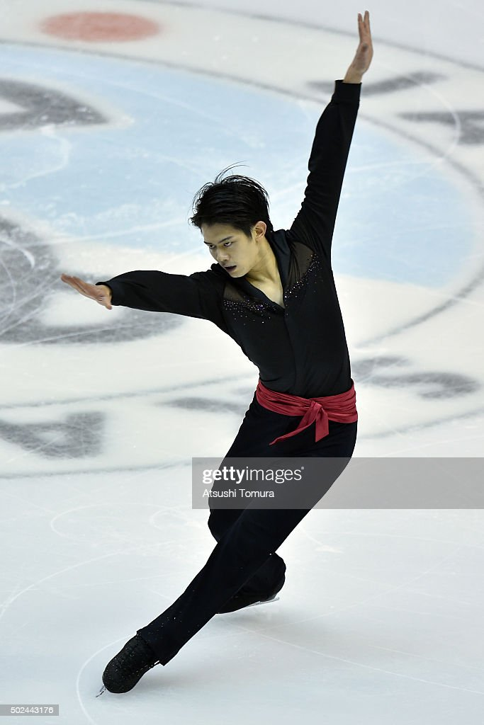 Takahiko Kozuka of Japan competes in the Men short program during the day one of the 2015 Japan Figure Skating Championships at the Makomanai Ice Arena on December 25, 2015 in Sapporo, Japan.