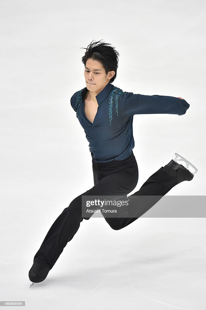 Takahiko Kozuka of Japan competes in the Men's Free Skating during the 83rd All Japan Figure Skating Championships at the Big Hat on December 27, 2014 in Nagano, Japan.