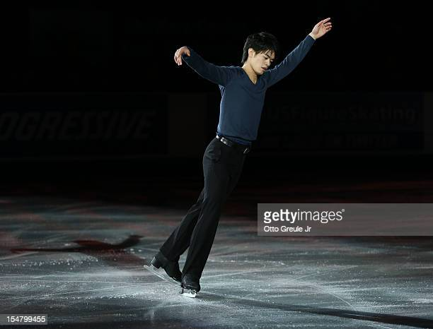 Takahiko Kozuka of Japan skates in the Smucker's Skating Spectacular event during the Skate America competition at the ShoWare Center on October 21...