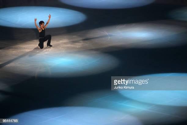Takahiko Kozuka performs during the All Japan Medalists On Ice at Namihaya Dome on December 28, 2009 in Osaka, Japan.