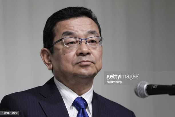 Takahiro Hachigo president and chief executive officer of Honda Motor Co and one of the vice chairmen of Japan Automobile Manufacturers Association...
