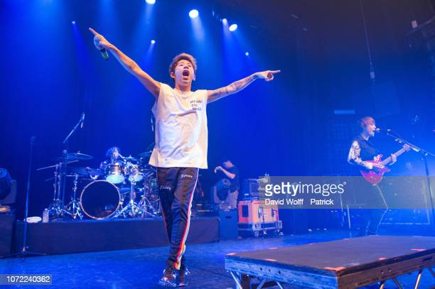 Takahiro Moriuchi from One OK Rock performs at Le Bataclan on December 12 2018 in Paris France