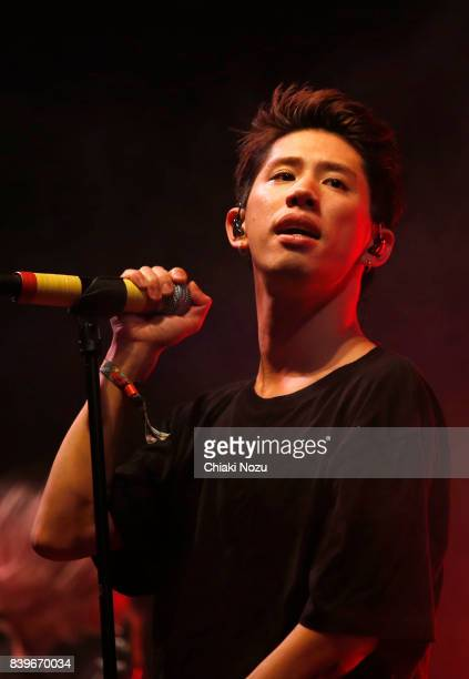 Takahiro Moriuchi of One OK Rock performs at Reading Festival at Richfield Avenue on August 26 2017 in Reading England