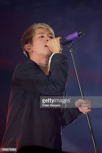 Takahiro Moriuchi of One Ok Rock performs on the first day of Pinkpop festival on June 10, 2016 in Landgraaf, Netherlands.
