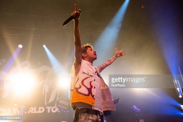 Takahiro Moriuchi Taka of the Japanese rock band ONE OK ROCK in Concert at the Roundhouse London on 10 May 2019 England