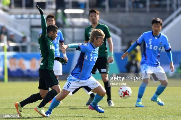 Takahiro Nakazato of Yokohama FC in action during the JLeague J2 match between Yokohama FC and Matsumoto Yamaga at Nippatsu Mitsuzawa Stadium on...