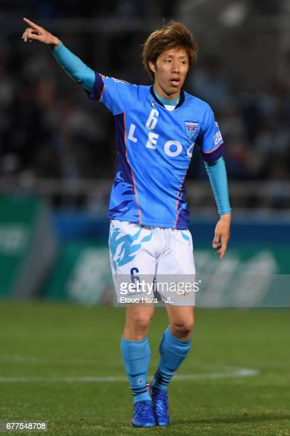Takahiro Nakazato of Yokohama FC in action during the JLeague J2 match between Yokohama FC and Ehime FC at Nippatsu Mitsuzawa Stadium on May 3 2017...