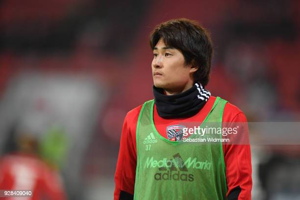 Takahiro Sekine of Ingolstadt looks on during the Second Bundesliga match between FC Ingolstadt 04 and VfL Bochum 1848 at Audi Sportpark on March 5...